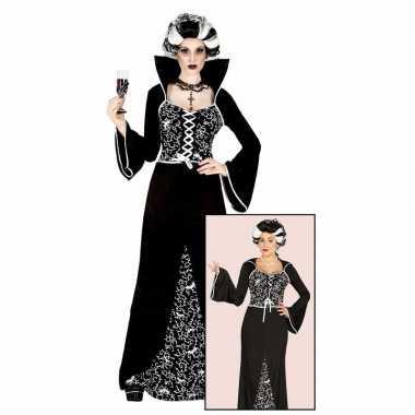 Halloween originele vampieren carnavalskleding zwart/wit dames