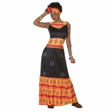 Originele afrikaanse carnavalskleding verkleed carnavalskleding zwart