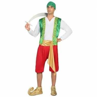Originele arabische strijder amir verkleed carnavalskleding heren