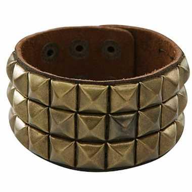 Originele armband gouden klinknagels carnavalskleding