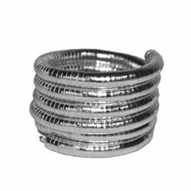 Originele armband zilver gedraaid carnavalskleding