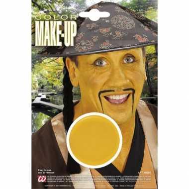 Originele aziatische gele schmink carnavalskleding