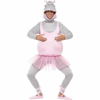 Originele ballerina nijlpaard carnavalskleding volwassenen