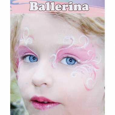 Originele ballerina schminken schminkset carnavalskleding