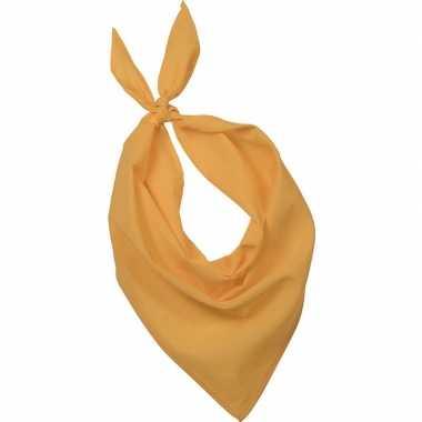 Originele bandana/zakdoek geel volwassenen carnavalskleding
