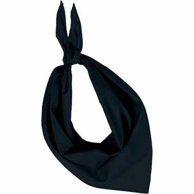 Originele bandana/zakdoek zwart volwassenen carnavalskleding