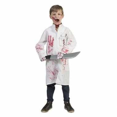 Originele bebloede doktersjas kinderen maat carnavalskleding