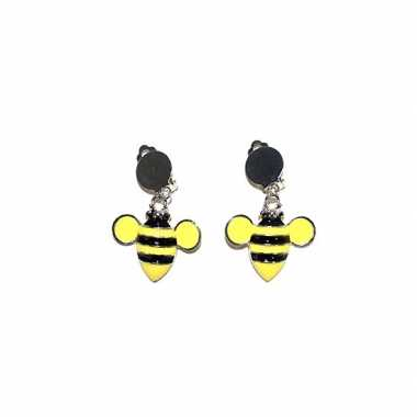 Originele bijen oorbellen clip on carnavalskleding