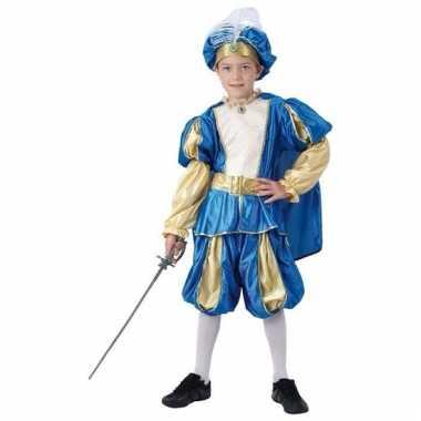 Originele blauw prinsen carnavalskleding jongens