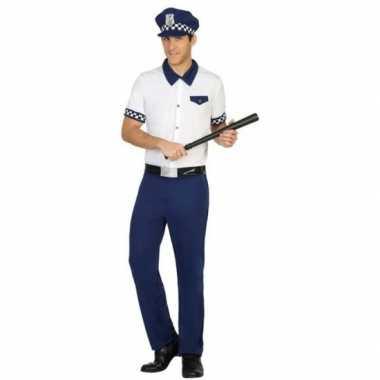 Originele blauw/wit politie verkleed carnavalskleding/carnavalskledin