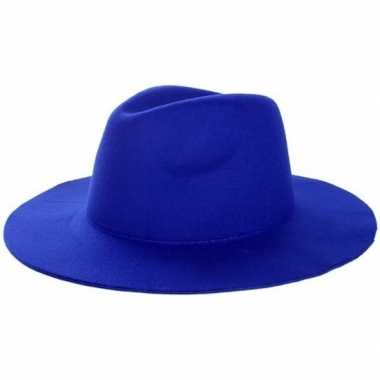 Originele blauwe cowboyhoed volwassenen carnavalskleding