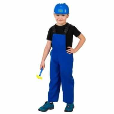 Originele bouwvakkers verkleed carnavalskledingl blauw kinderen
