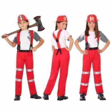 Originele brandweer carnavalskleding / verkleed carnavalskleding jong