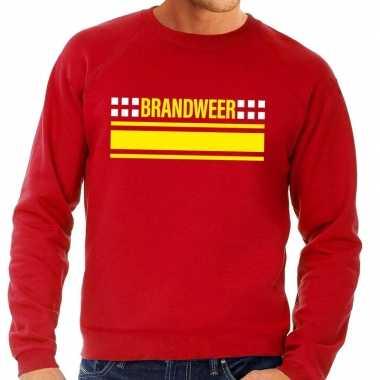 Originele brandweer logo sweater rood heren carnavalskleding