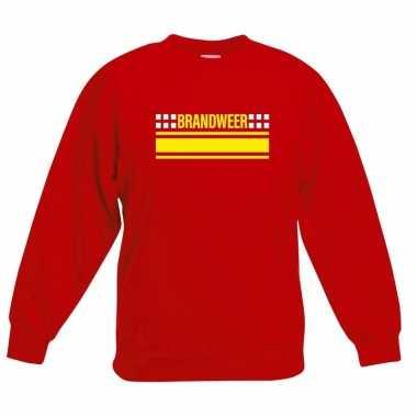 Originele brandweer logo sweater rood kinderen carnavalskleding