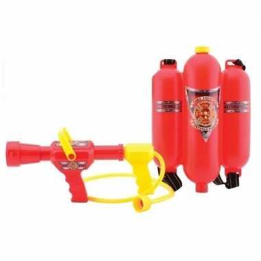Originele brandweer waterpistool brandblusser rugzak spuit carnavalsk