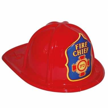 Originele brandweerhelm rood verkleed accessoire kinderen carnavalskl