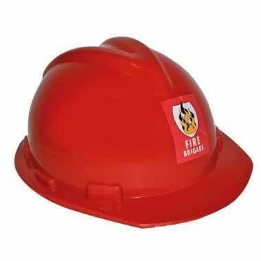 Originele brandweerhelm verstelbaar verkleed accessoire volwassenen c