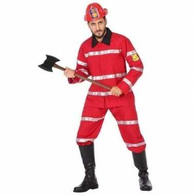 Originele brandweerman verkleed carnavalskleding heren