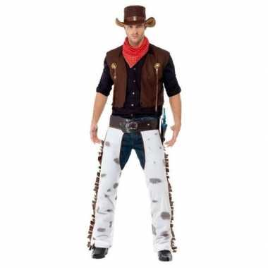 Originele bruin cowboy carnavalskleding heren