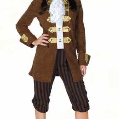 Originele  Bruin dames piraten-carnavalskleding