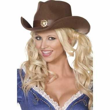 Originele bruine cowboy hoed volwassenen carnavalskleding