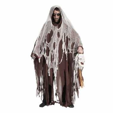 Originele bruine mantel volwassenen carnavalskleding