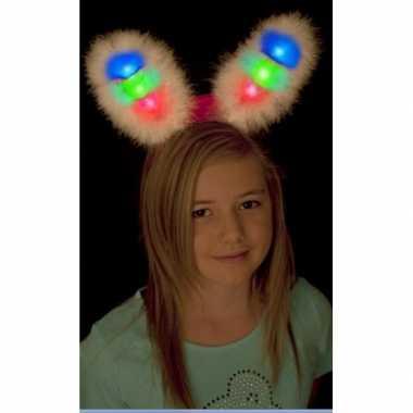 Originele  Bunny oren wit led lampje carnavalskleding