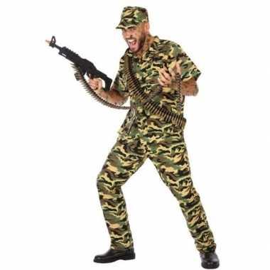 Originele camouflage soldaat verkleed carnavalskleding/carnavalskledi