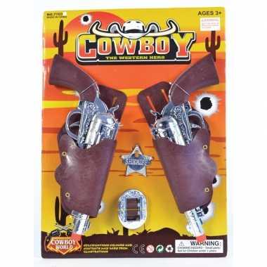 Originele carnaval accessoires pistolen sheriff badge carnavalskledin