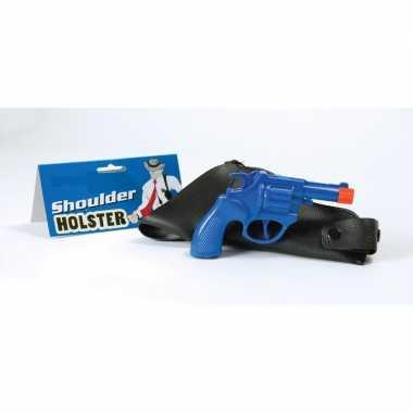 Originele carnaval accessoires pistool blauw carnavalskleding