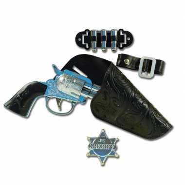 Originele carnaval accessoires pistool holster sheriff badge carnaval
