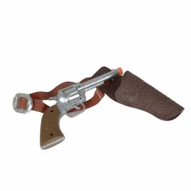 Originele carnaval accessoires pistool zilver carnavalskleding