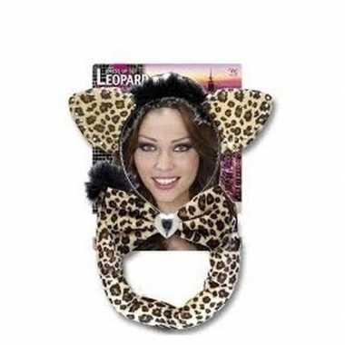 Originele carnaval verkleedset luipaardje volwassenen carnavalskledin