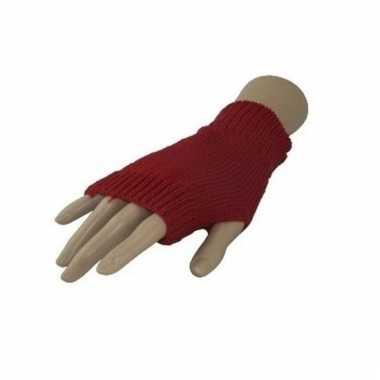 Originele carnaval vingerloze handschoenen rood volwassenen carnavals