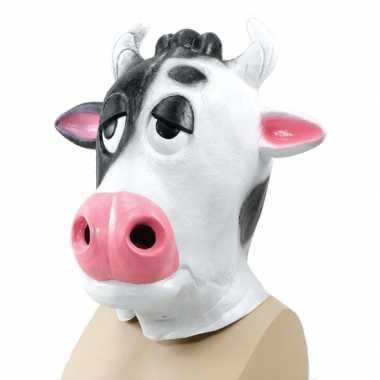 Originele  Carnavals koeien masker carnavalskleding