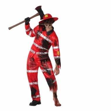 Originele carnavalskleding brandweer zombie