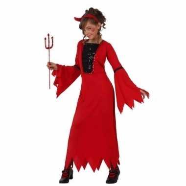 Originele carnavalskleding rode duivelcarnavalskleding meiden