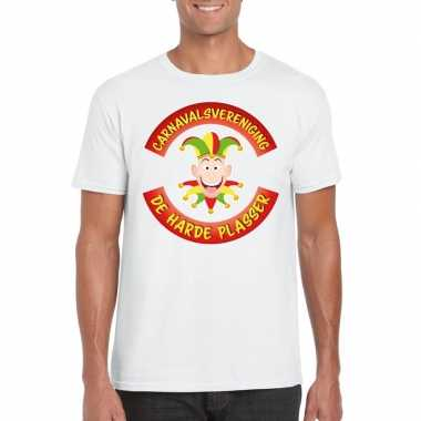 Originele carnavalsvereniging harde plasser limburg heren t shirt wit