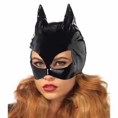 Originele catwoman accessoires zwart masker carnavalskleding