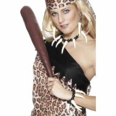 Originele  Cavewoman ketting, armband oorbellen carnavalskleding