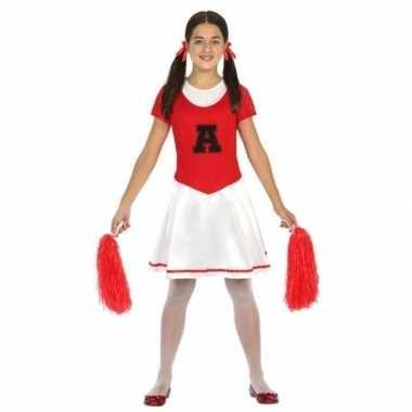 Originele cheerleader carnavalskleding/carnavalskleding verkleed carn
