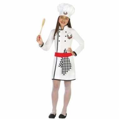 Originele chef kok verkleed carnavalskleding/carnavalskleding meisjes