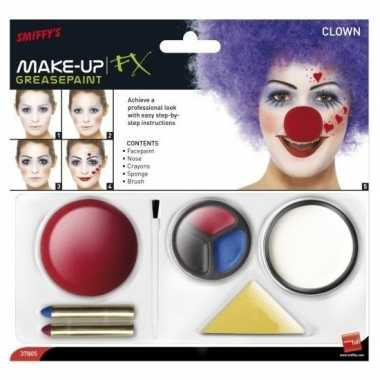 Originele clown schmink set inclusief clownsneus carnavalskleding