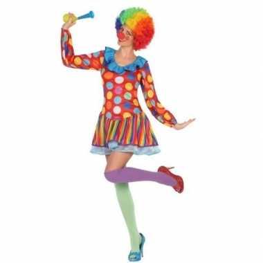 Originele clown verkleed carnavalskleding/carnavalskleding dames