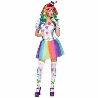 Originele compleet clowns carnavalskleding paint dames