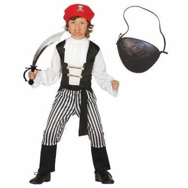 Originele compleet piraten carnavalskleding maat kinderen
