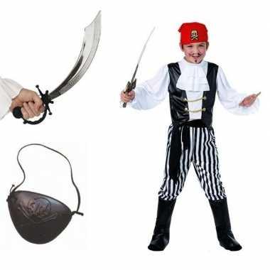 Originele compleet piraten carnavalskleding maat l kids