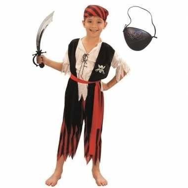 Originele compleet piraten carnavalskleding maat s kinderen