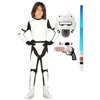 Originele compleet space trooper carnavalskleding maat kinderen